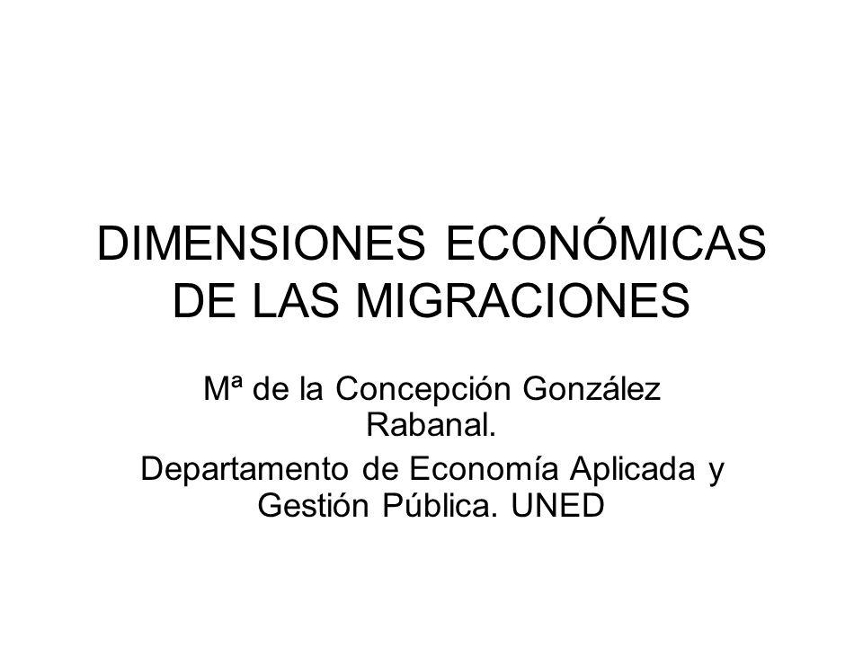 DIMENSIONES ECONÓMICAS DE LAS MIGRACIONES