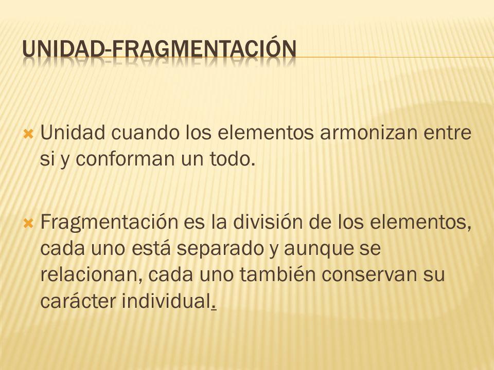 UNIDAD-FRAGMENTACIÓN