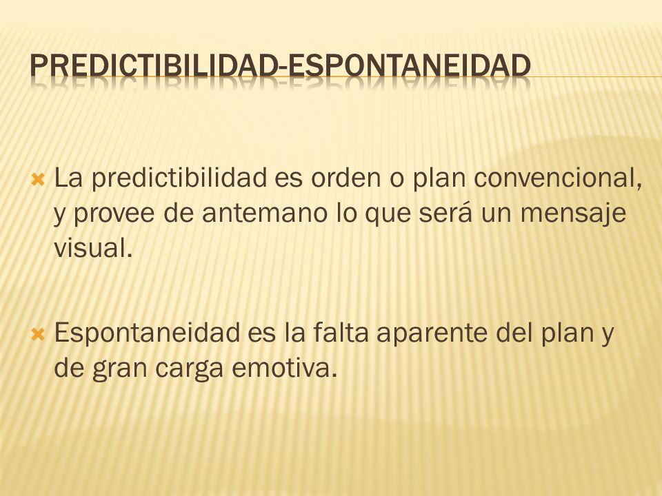 PREDICTIBILIDAD-ESPONTANEIDAD