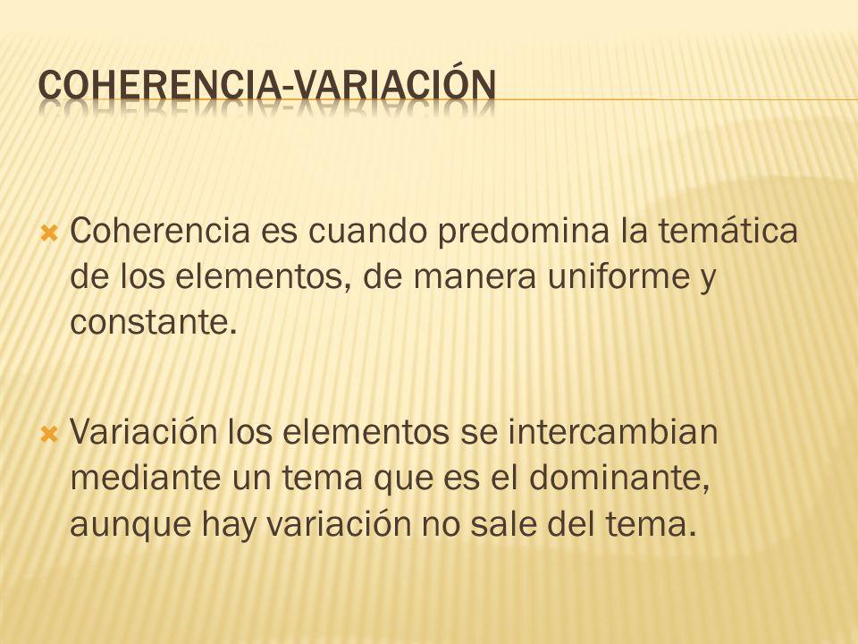 COHERENCIA-VARIACIÓN