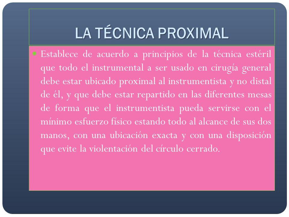 LA TÉCNICA PROXIMAL