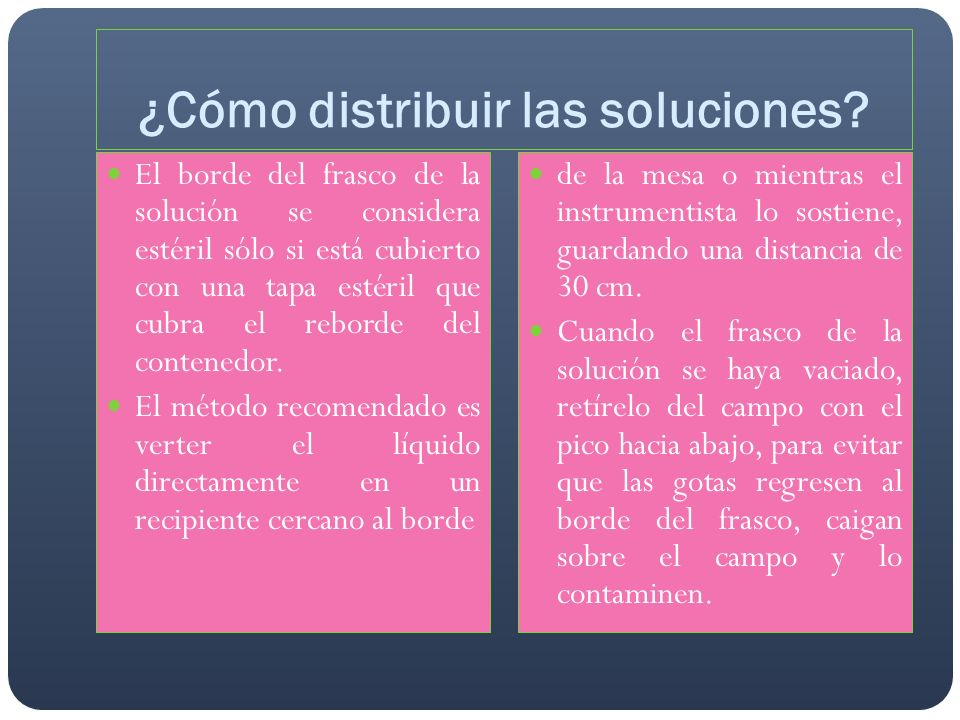 ¿Cómo distribuir las soluciones