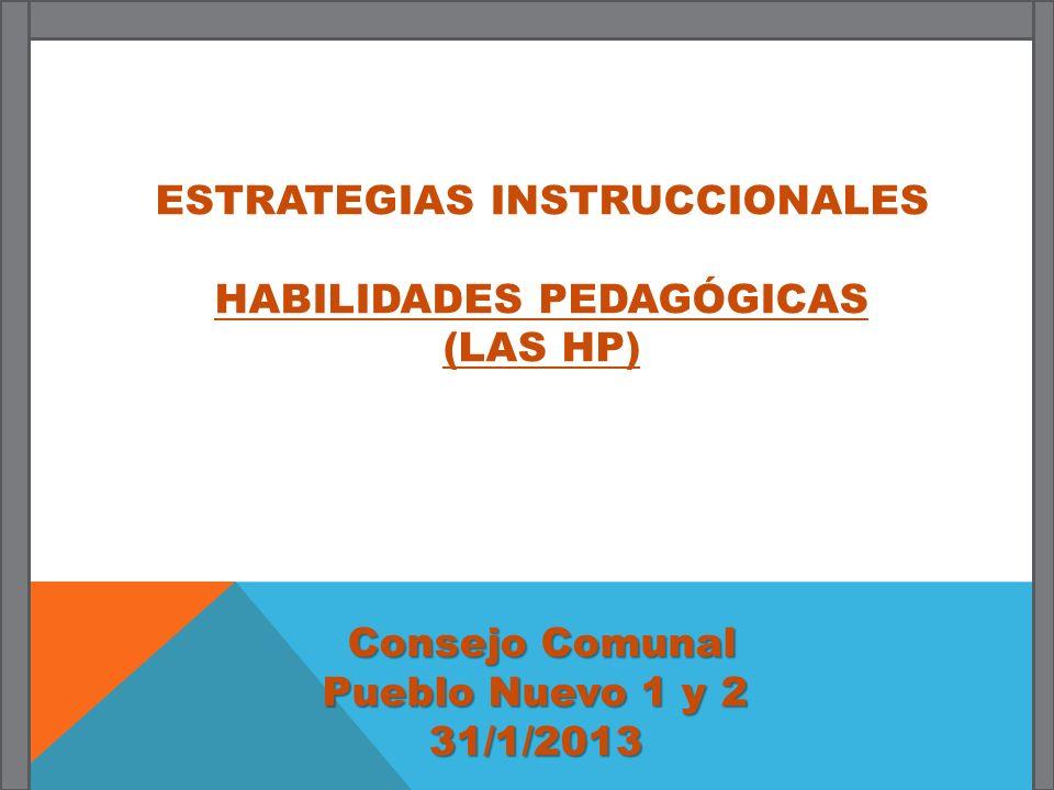 ESTRATEGIAS INSTRUCCIONALES HABILIDADES PEDAGÓGICAS (LAS HP)