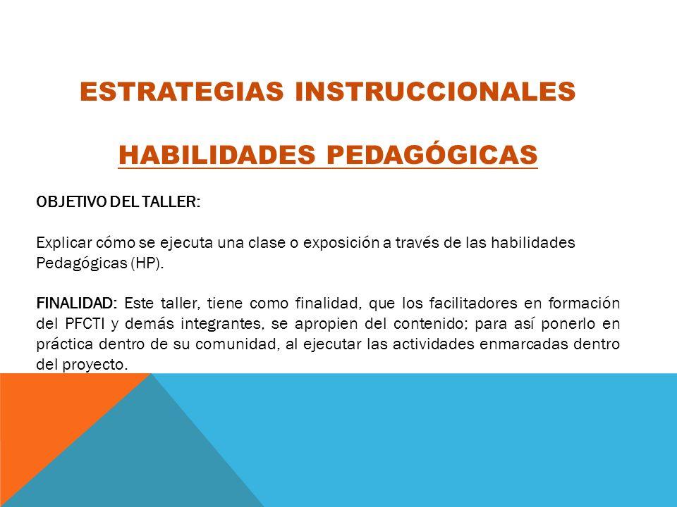 ESTRATEGIAS INSTRUCCIONALES HABILIDADES PEDAGÓGICAS