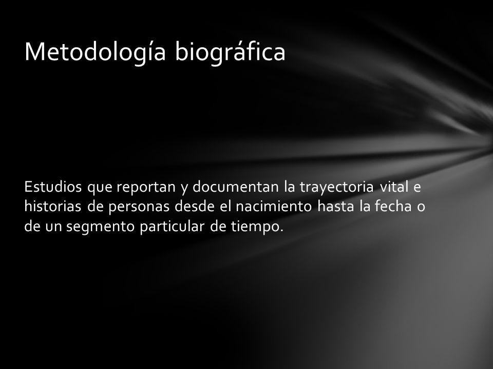 Metodología biográfica