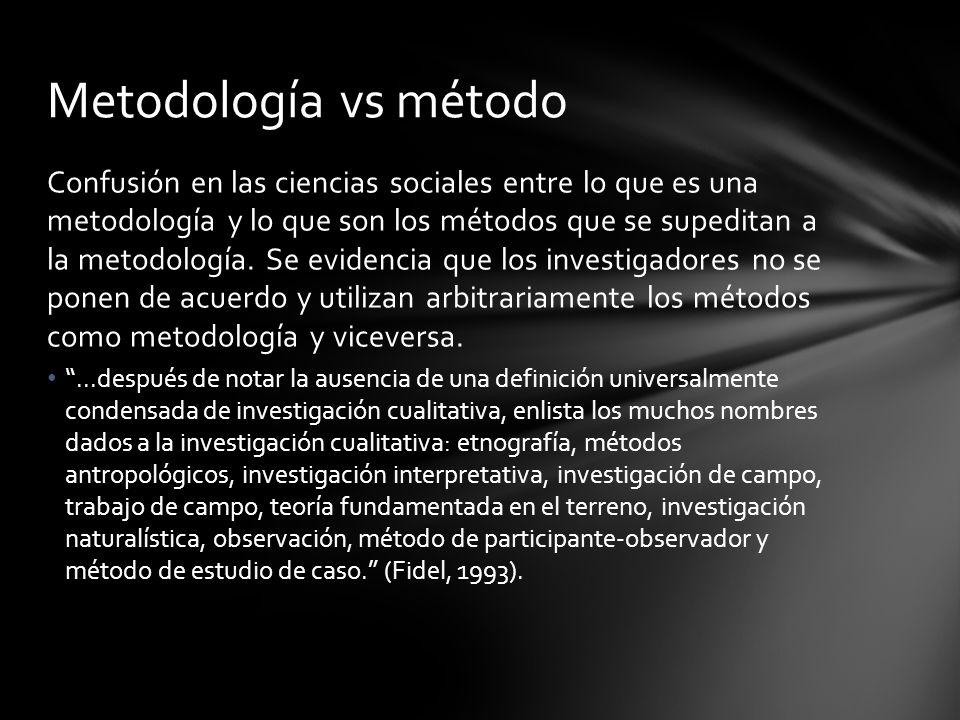 Metodología vs método
