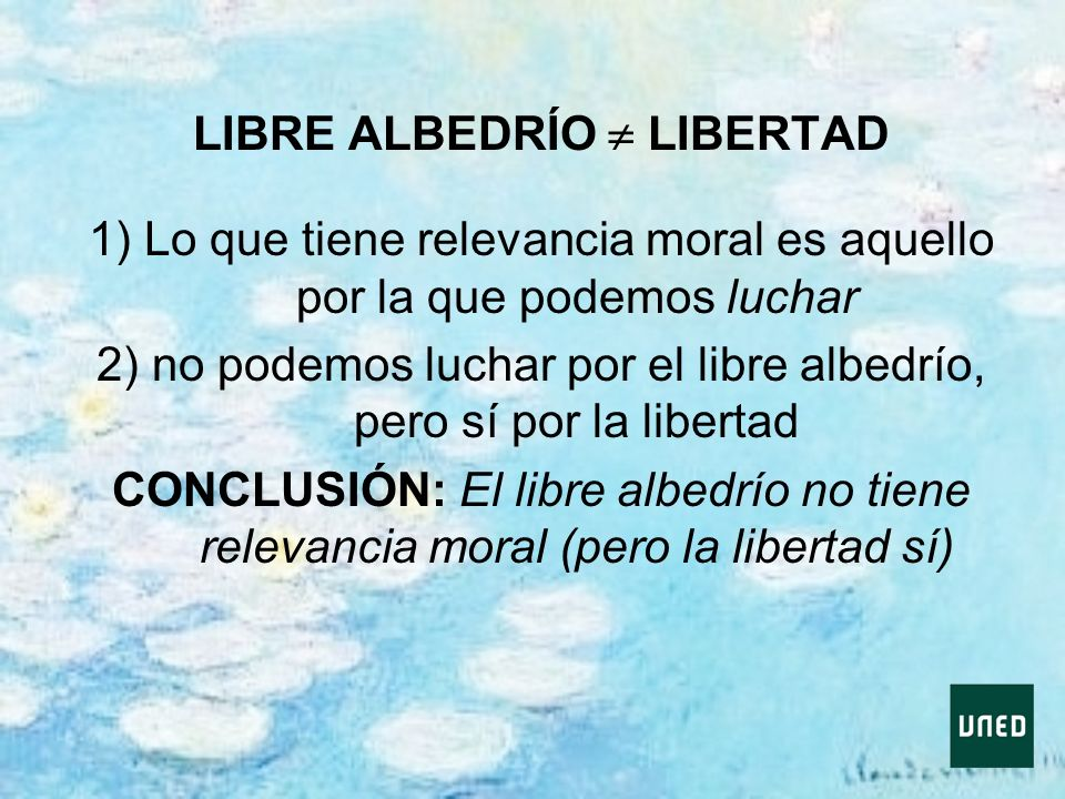 LIBRE ALBEDRÍO  LIBERTAD