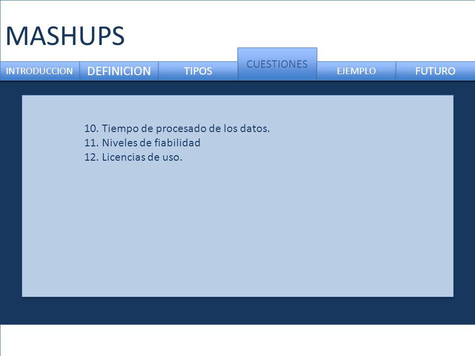 MASHUPS DEFINICION CUESTIONES TIPOS FUTURO