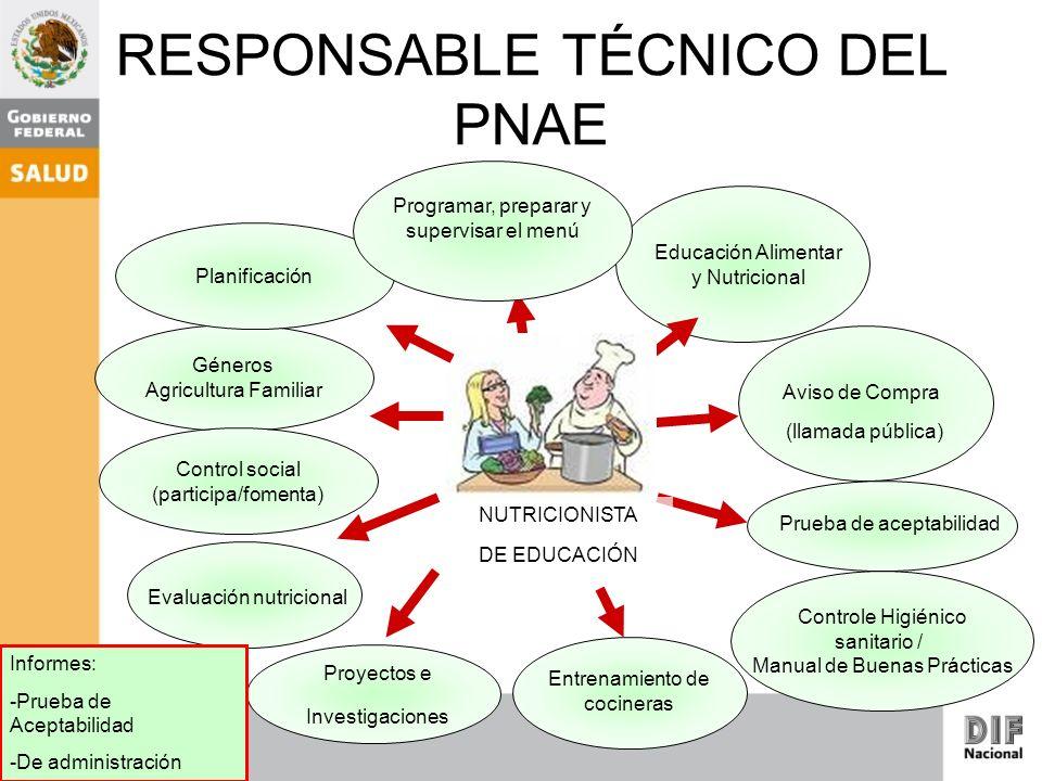 RESPONSABLE TÉCNICO DEL PNAE