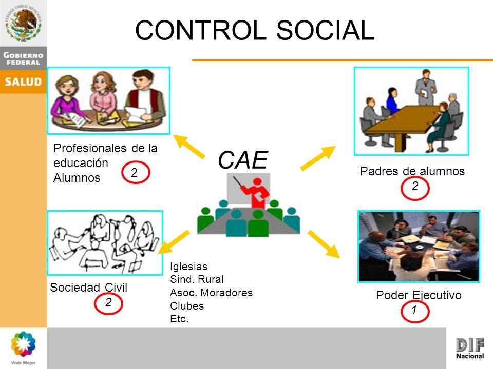CONTROL SOCIAL CAE Profesionales de la educación Alumnos 2