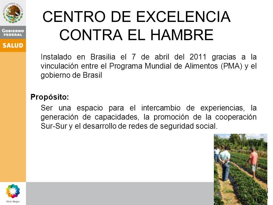 CENTRO DE EXCELENCIA CONTRA EL HAMBRE
