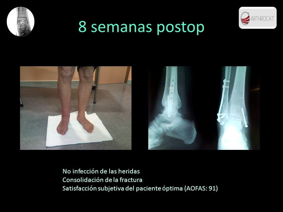 8 semanas postop No infección de las heridas