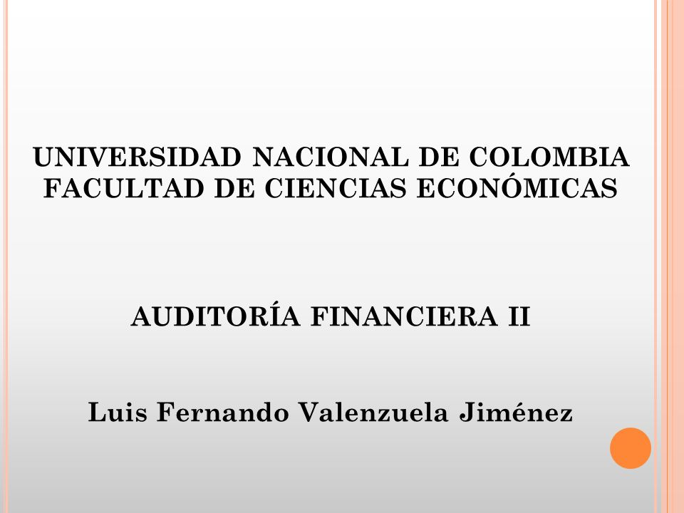 UNIVERSIDAD NACIONAL DE COLOMBIA FACULTAD DE CIENCIAS ECONÓMICAS