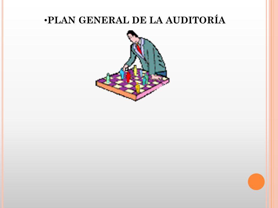 PLAN GENERAL DE LA AUDITORÍA