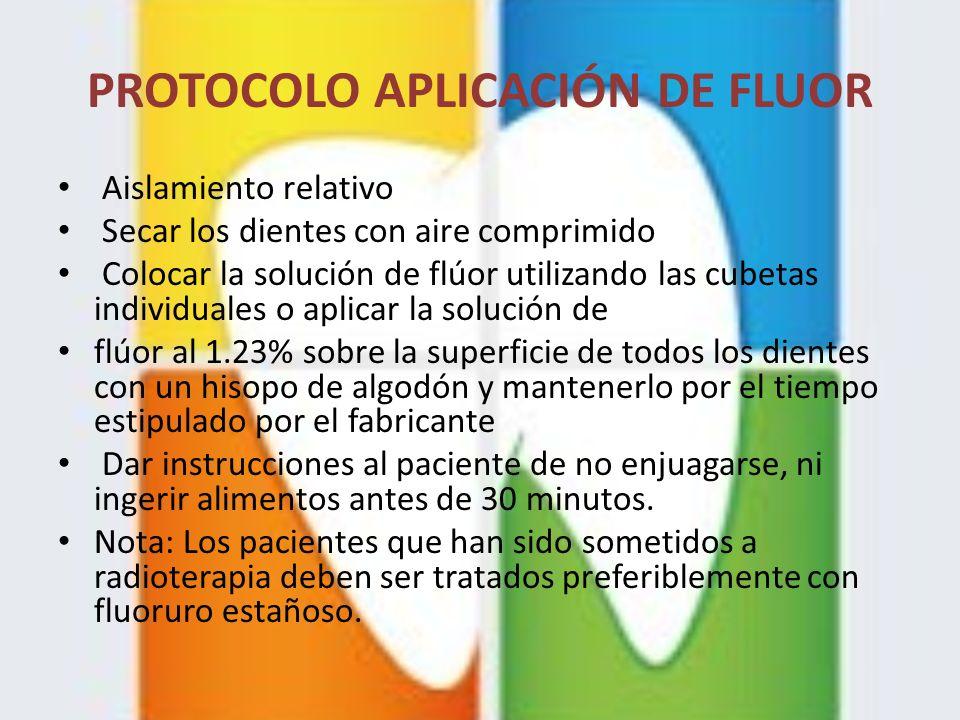 PROTOCOLO APLICACIÓN DE FLUOR