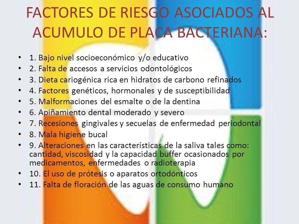 FACTORES DE RIESGO ASOCIADOS AL ACUMULO DE PLACA BACTERIANA: