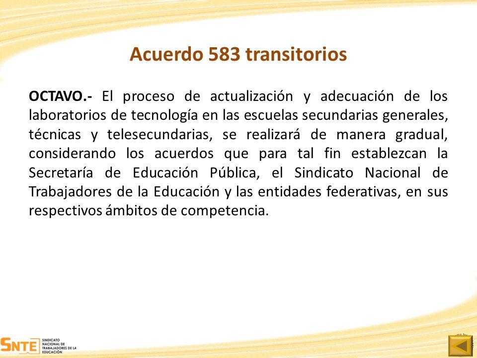Acuerdo 583 transitorios
