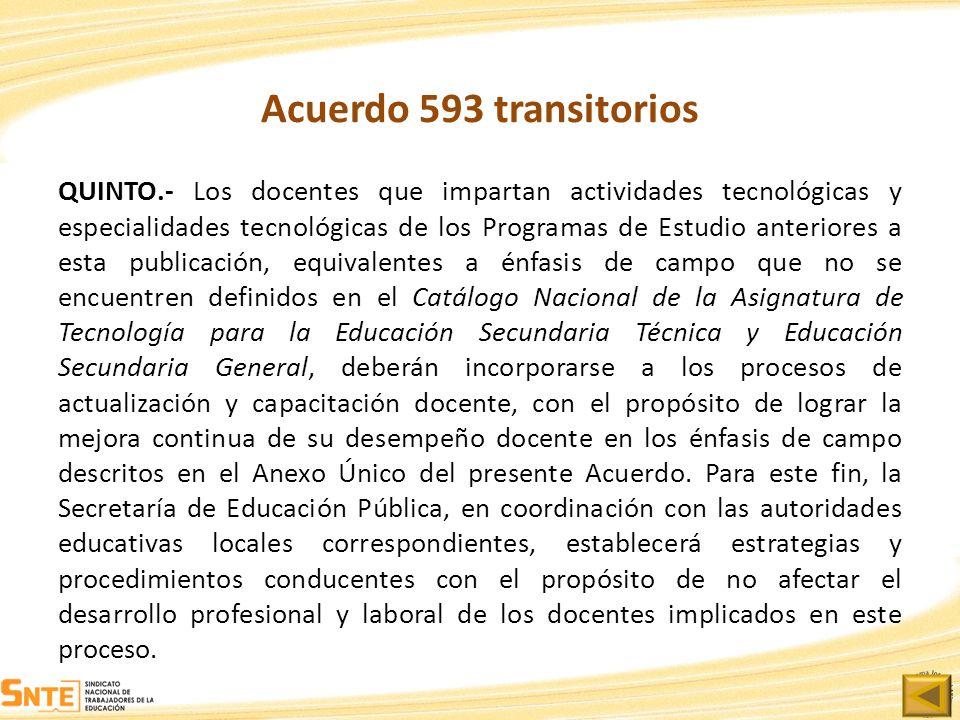 Acuerdo 593 transitorios