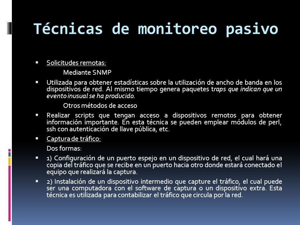 Técnicas de monitoreo pasivo