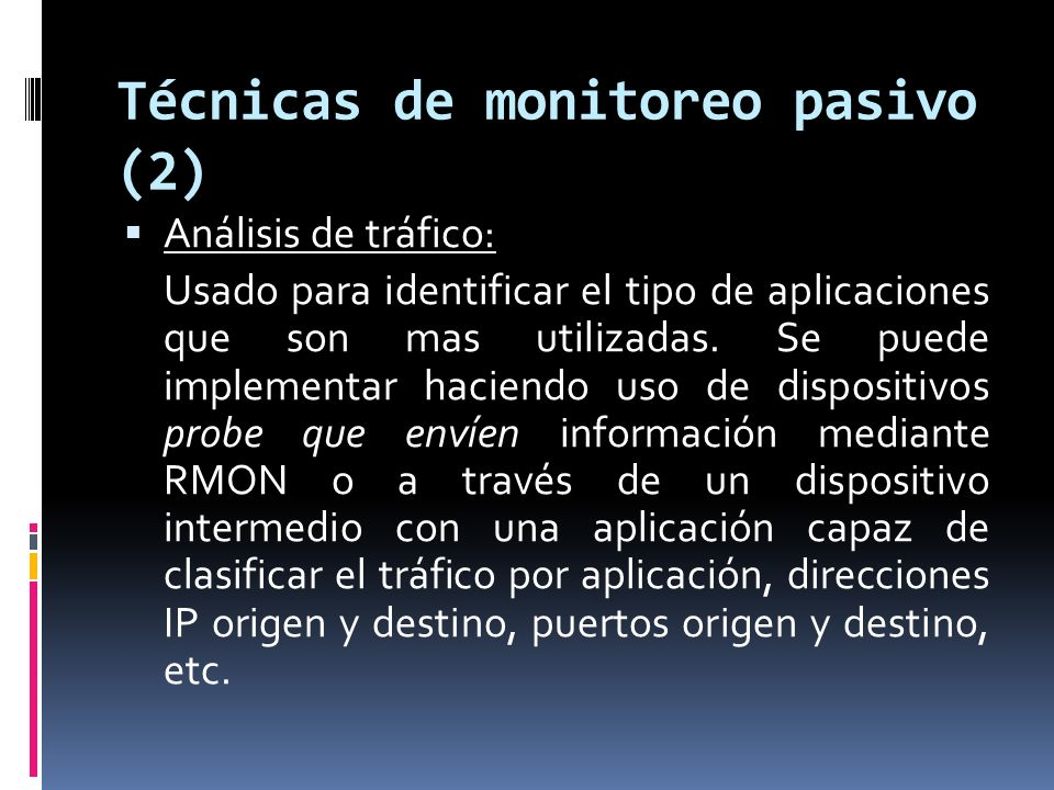 Técnicas de monitoreo pasivo (2)