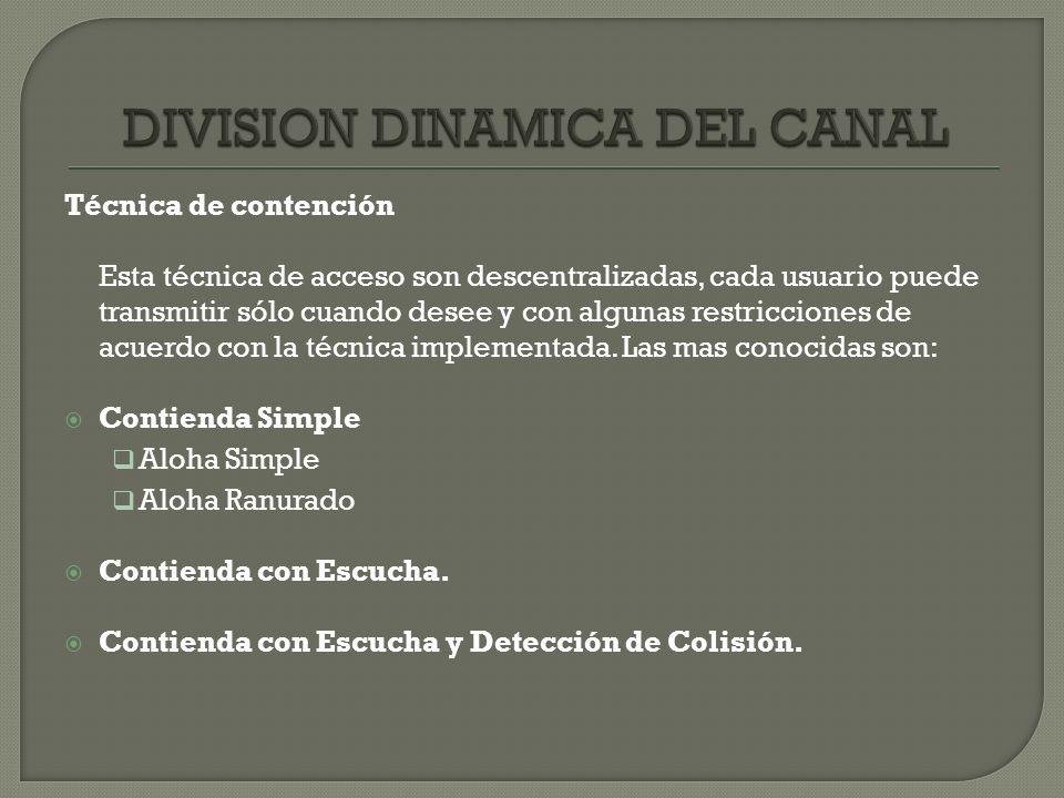 DIVISION DINAMICA DEL CANAL