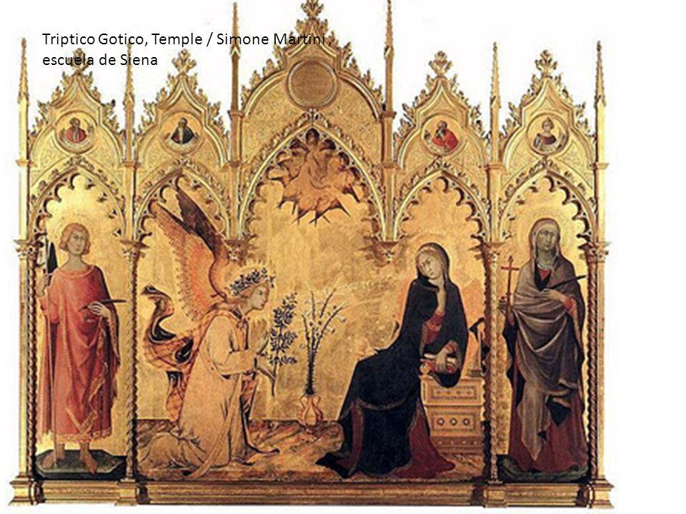 Triptico Gotico, Temple / Simone Martini , escuela de Siena