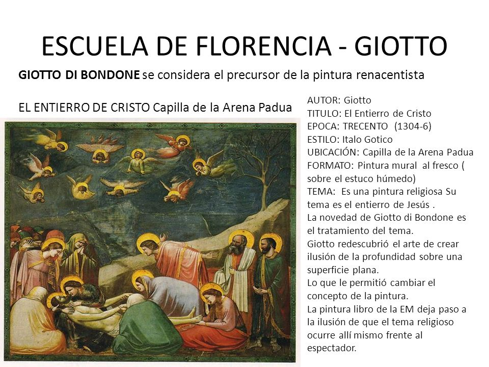 ESCUELA DE FLORENCIA - GIOTTO