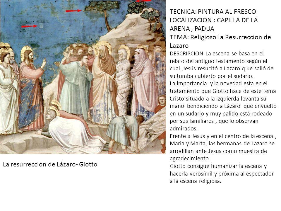 TECNICA: PINTURA AL FRESCO LOCALIZACION : CAPILLA DE LA ARENA , PADUA