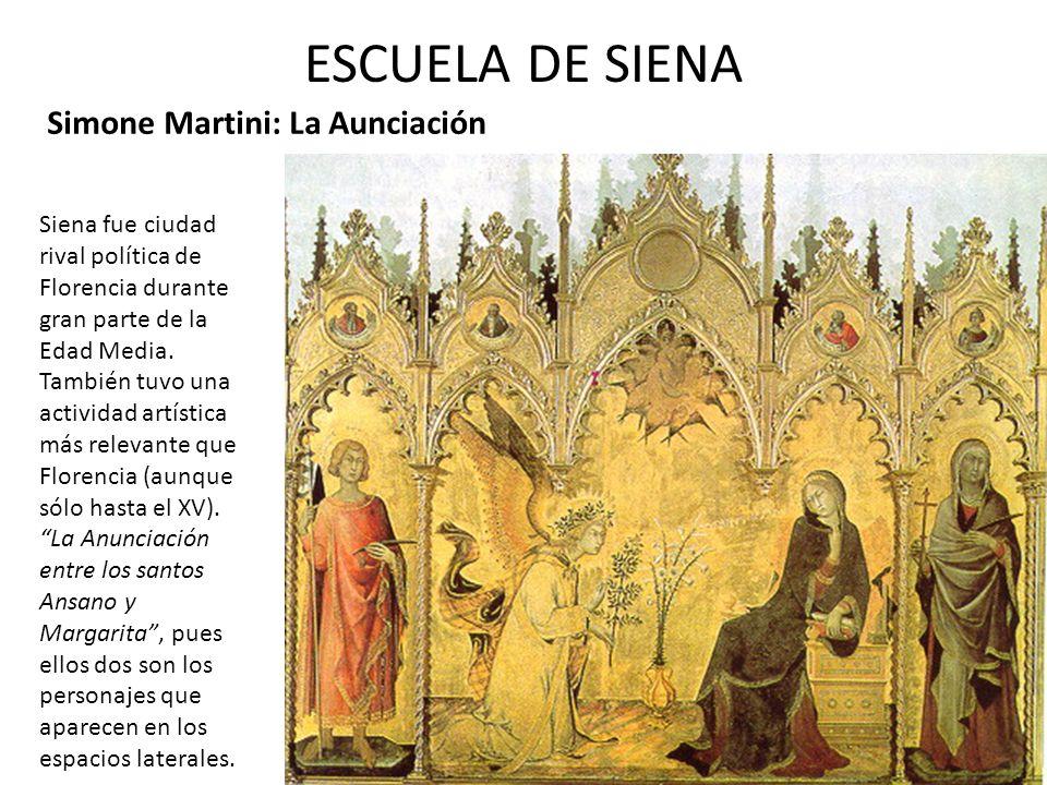 ESCUELA DE SIENA Simone Martini: La Aunciación