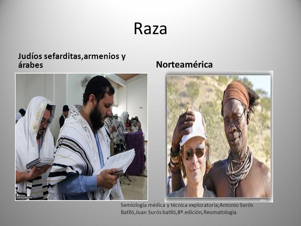 Raza Norteamérica Judíos sefarditas,armenios y árabes