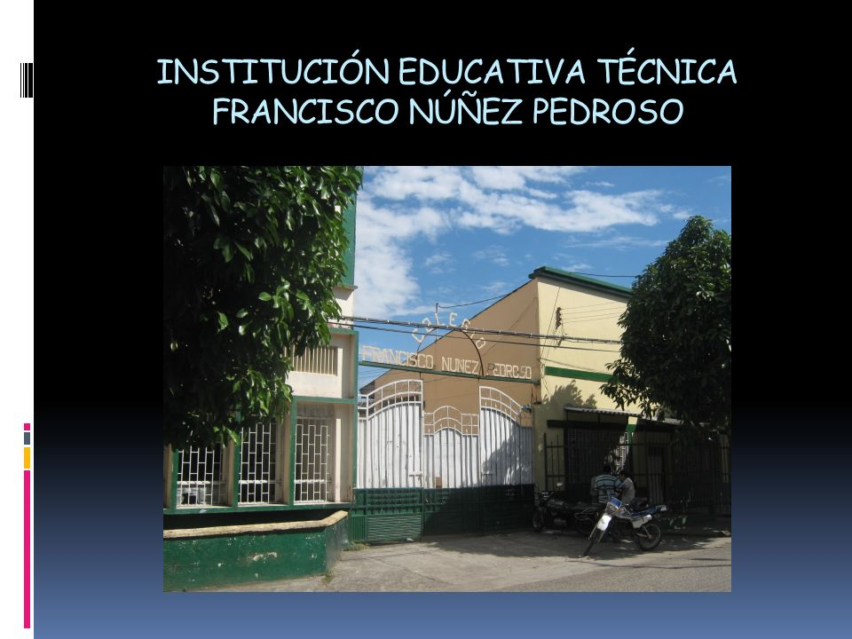 INSTITUCIÓN EDUCATIVA TÉCNICA FRANCISCO NÚÑEZ PEDROSO