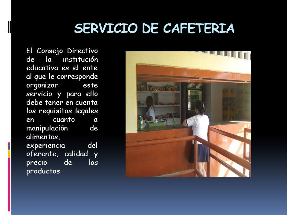 SERVICIO DE CAFETERIA