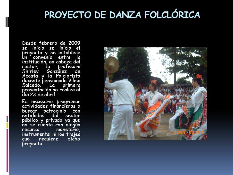 PROYECTO DE DANZA FOLCLÓRICA