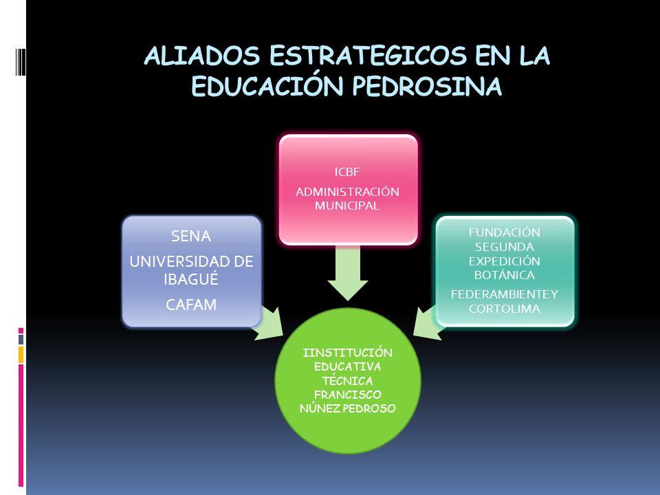 ALIADOS ESTRATEGICOS EN LA EDUCACIÓN PEDROSINA