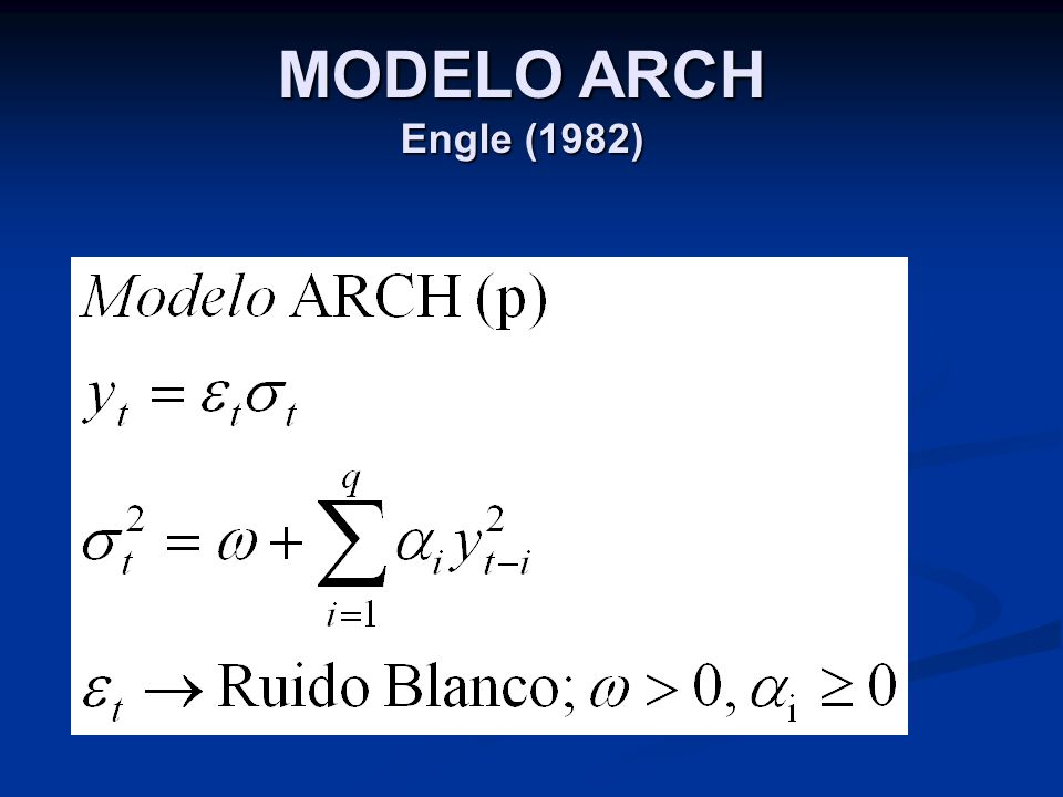 MODELO ARCH Engle (1982)