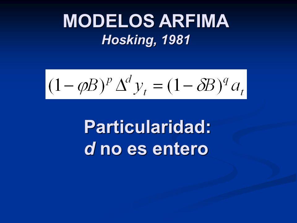 MODELOS ARFIMA Hosking, 1981