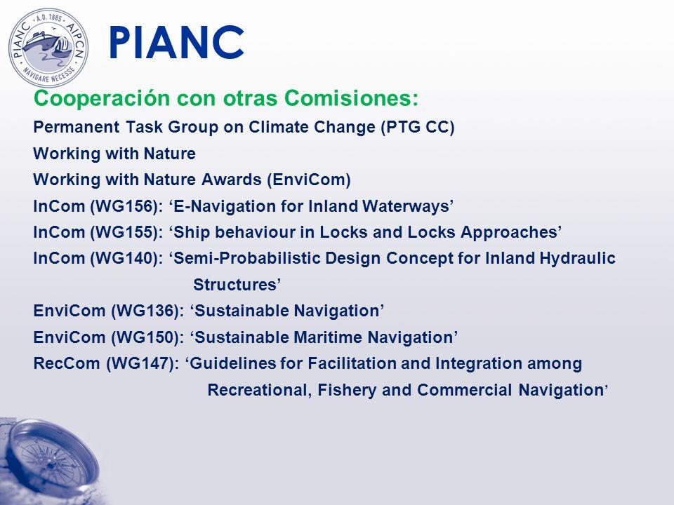 Cooperación con otras Comisiones:
