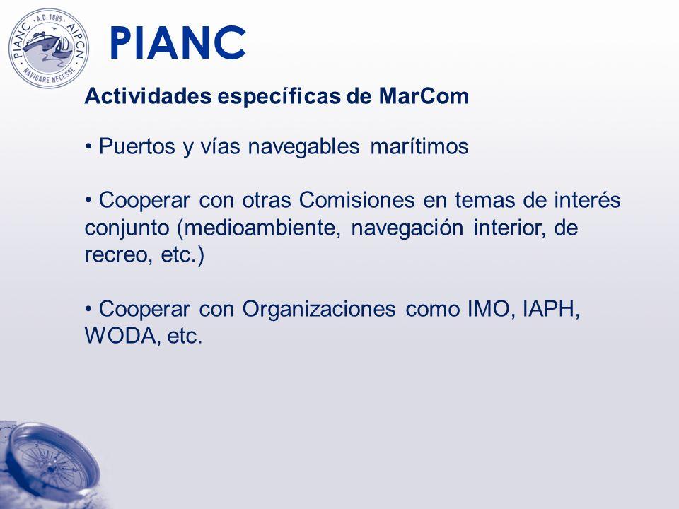 Actividades específicas de MarCom
