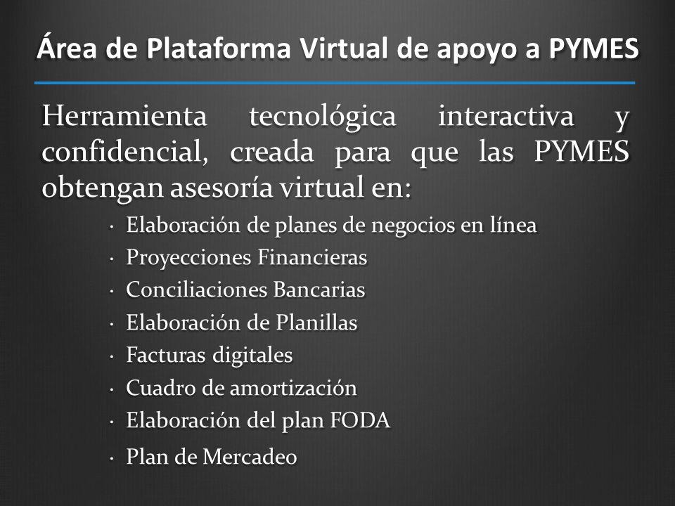 Área de Plataforma Virtual de apoyo a PYMES