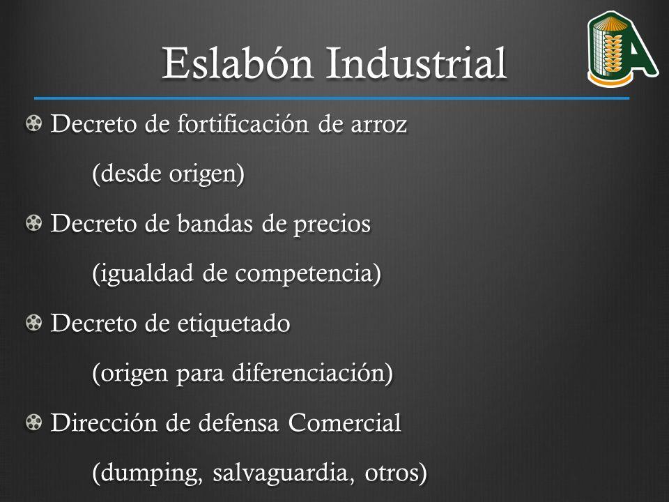 Eslabón Industrial Decreto de fortificación de arroz (desde origen)