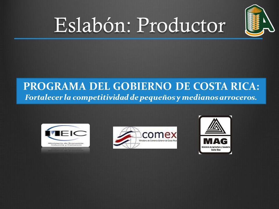 Eslabón: Productor PROGRAMA DEL GOBIERNO DE COSTA RICA: