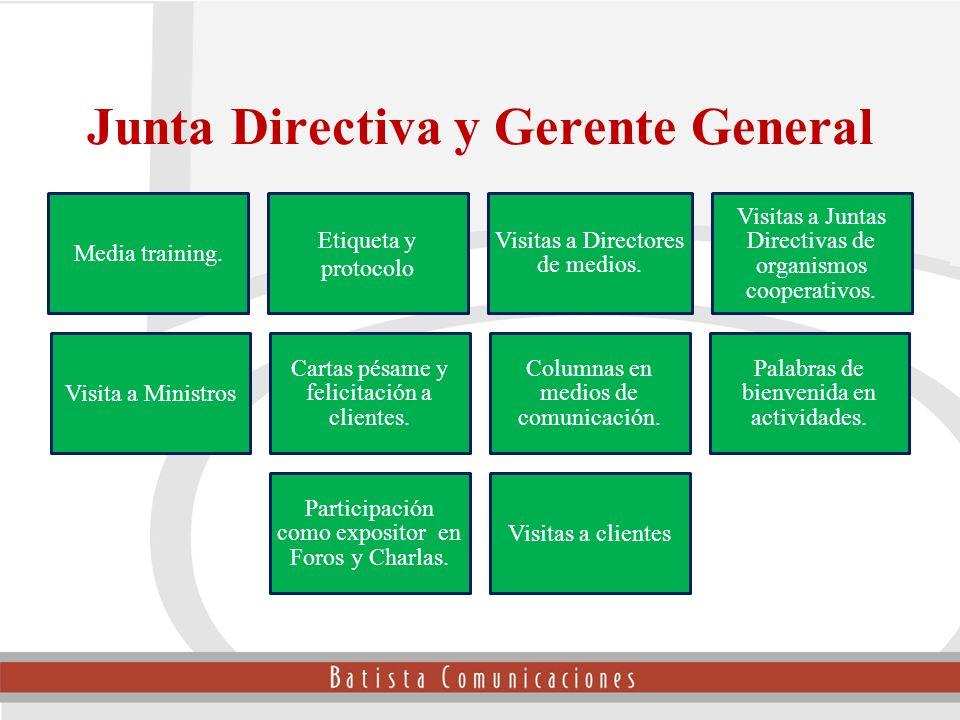 Junta Directiva y Gerente General