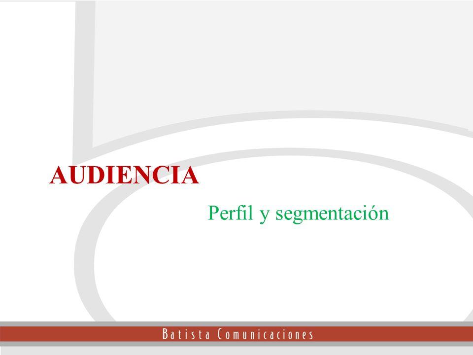 Perfil y segmentación Audiencia