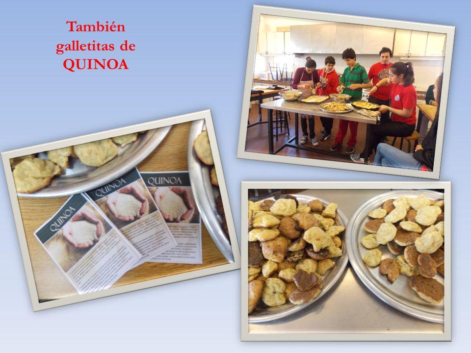 También galletitas de QUINOA