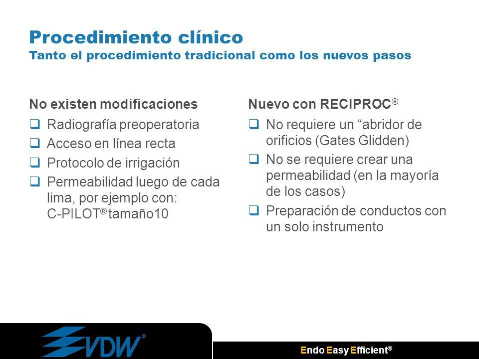 Procedimiento clínico Tanto el procedimiento tradicional como los nuevos pasos