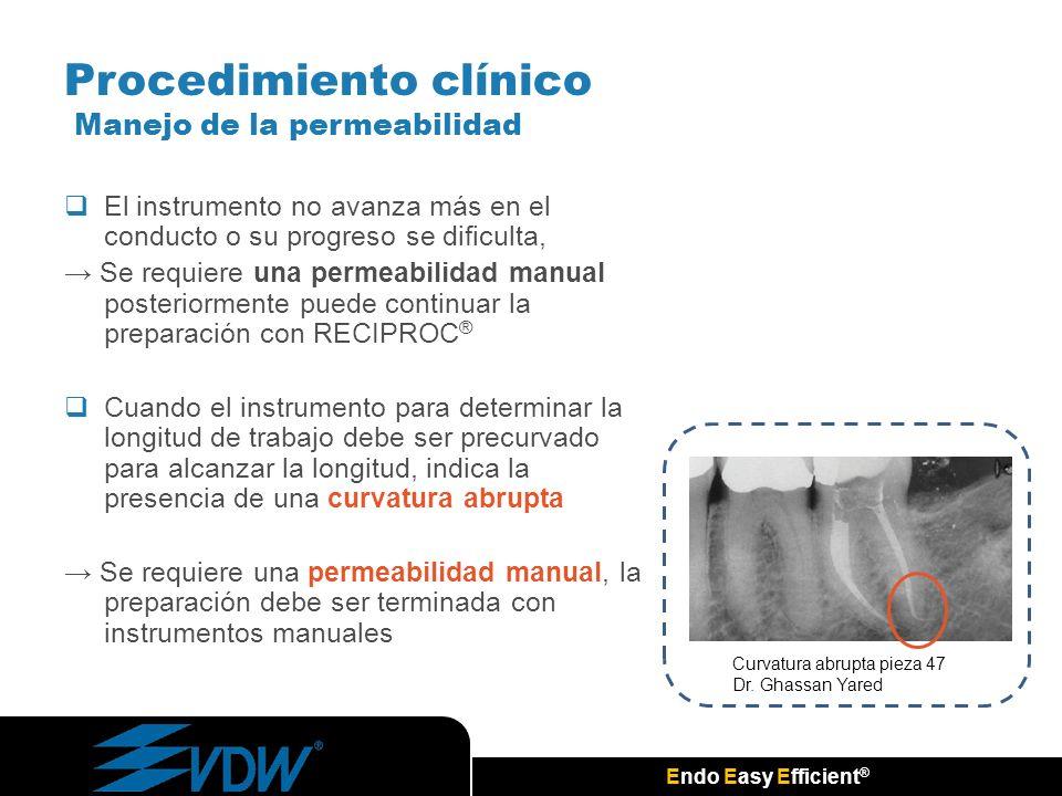 Procedimiento clínico Manejo de la permeabilidad