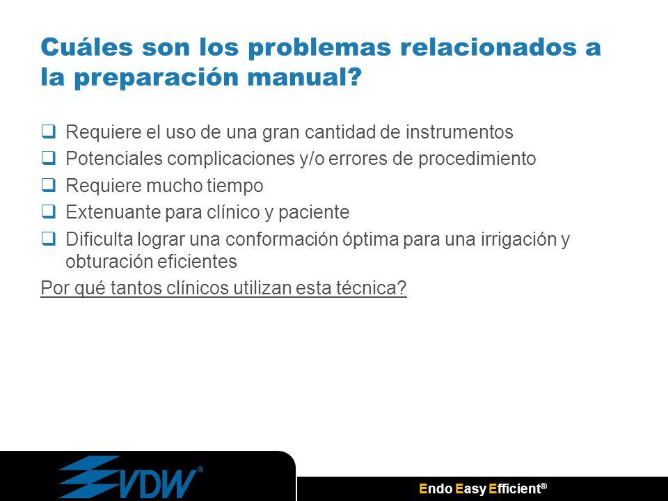 Cuáles son los problemas relacionados a la preparación manual