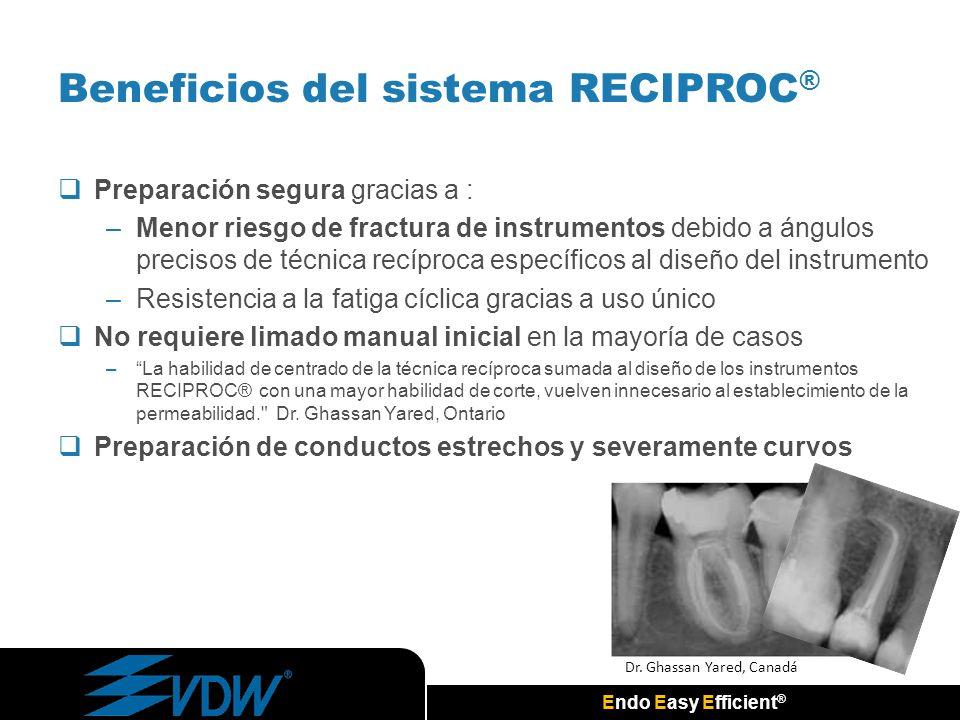 Beneficios del sistema RECIPROC®