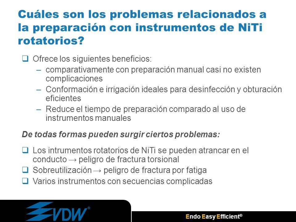 Cuáles son los problemas relacionados a la preparación con instrumentos de NiTi rotatorios