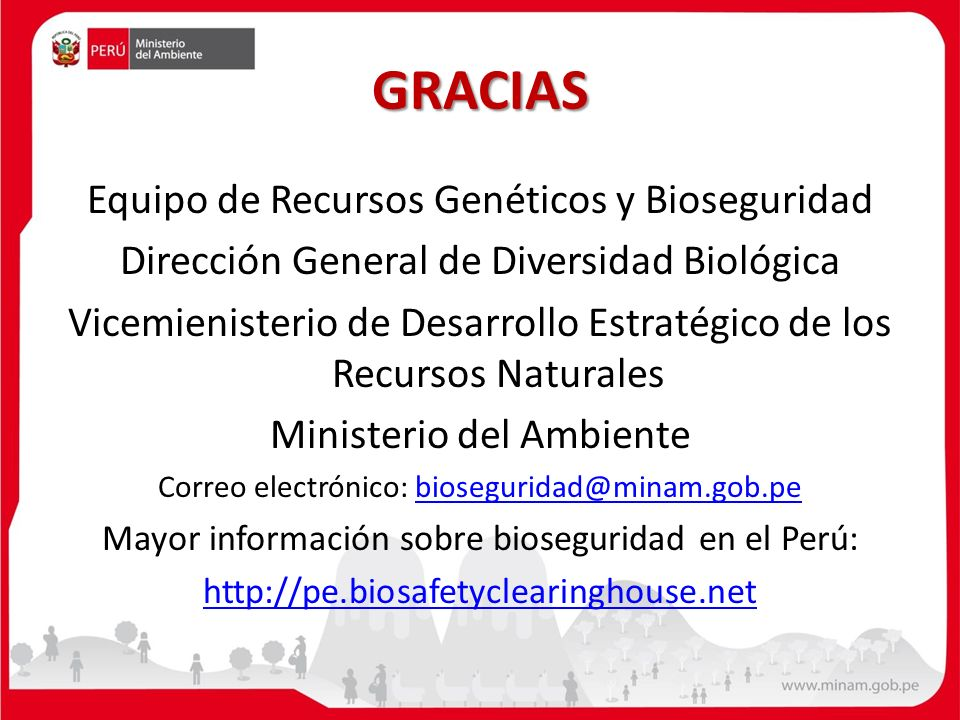 GRACIAS Equipo de Recursos Genéticos y Bioseguridad